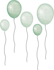 That's Mine Wallsticker Balloons 5er-Pack, Grün