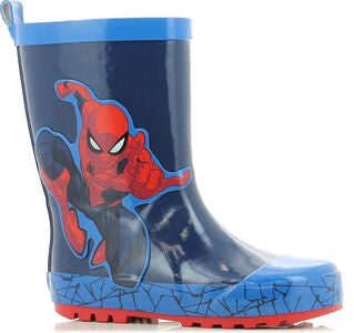 Marvel Spider-Man Gummistiefel, Navy/Cobalt Blue