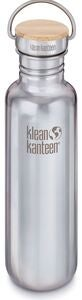 Klean Kanteen Reflect Baboo Cap Trinkflasche Mit Bambusdeckel 800ml, Mirrored Stainless