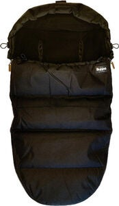 The Buppa Brand Winter Fußsack, All Black