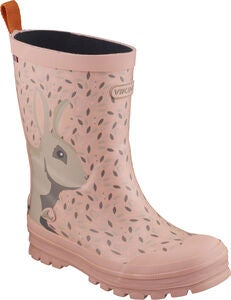 Viking Jolly Big Rabbit Gummistiefel, Pink/Multi