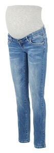 Mamalicious Vilnius Straight Jeans, Medium Blue Denim