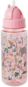 Rice Wasserflasche Jungle Animals, Pink