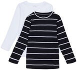 Luca & Lola Nario Langärmliges T-Shirt 2er-Pack, Black Stripes