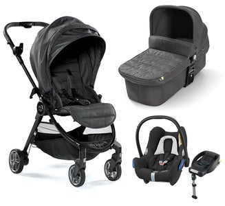 Baby Jogger City Tour Lux Kombiwagen, Granite + Maxi-Cosi Cabriofix Travelsystem