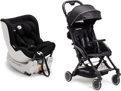 AVA Twistfix, Black Reisepaket Beemoo Easy Fly Buggy, Black