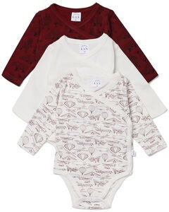 Luca & Lola Alexie Body 3er-Pack, Red