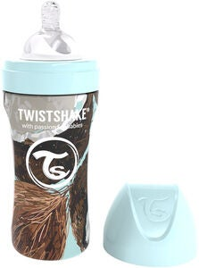 Twistshake Anti-Colic Stainless Steel Babyflasche 330 ml, Coconut
