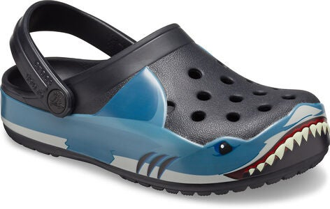 Crocs Fun Lab Shark Clog, Black