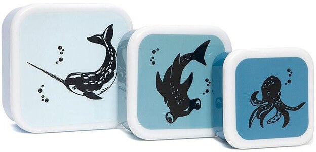 Petit Monkey Lunchbox Sea Animals 3er-Pack