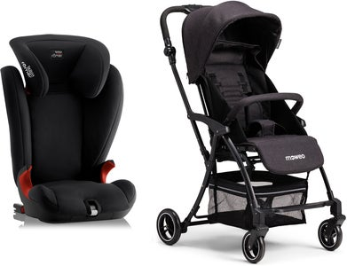 Britax Römer KidFix SL, Cosmos Black Reisepaket  Moweo Turn Light Buggy, Black