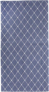 Alice & Fox Teppich Square Dots 150x200, Dusty Dark Blue