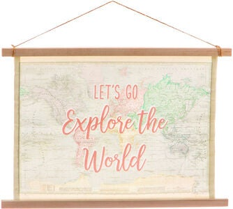 Sass & Belle World Explorer Hängendes Bild Canvas
