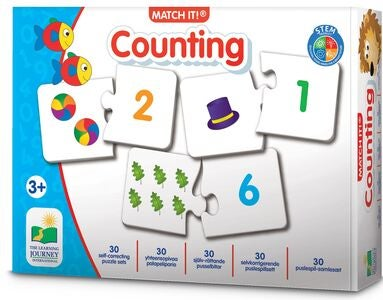 The Learning Journey Puzzle Match It Counting