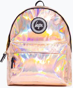 HYPE Rucksack, Rose Gold Holographic