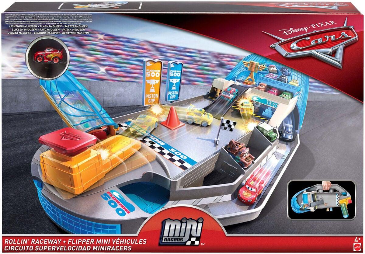 kaufen disney cars mini racers rollin raceway rennstrecke. Black Bedroom Furniture Sets. Home Design Ideas