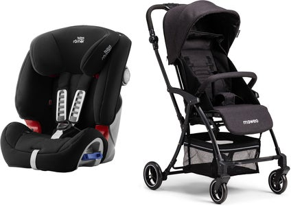 Britax Römer Multi-Tech III, Cosmos Black Reisepaket Moweo Turn Light Buggy, Black
