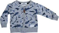 Ebbe Berkley Strickjacke, Ocean Shark Print