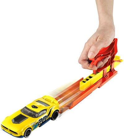 Hot Wheels Spielset Pocket Launcher + Auto, Rot