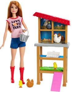Barbie Puppe Chicken Farmer Spielset