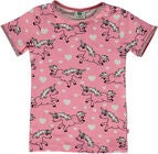 Småfolk Einhorn T-Shirt, Sea Pink