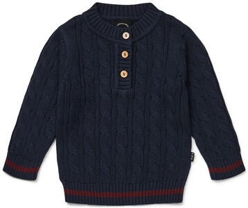 Luca & Lola Patrizio Pullover Baby, Navy/Wine Red
