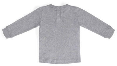 Champion Kids Langarmshirt Crewneck, Gray Melange Light