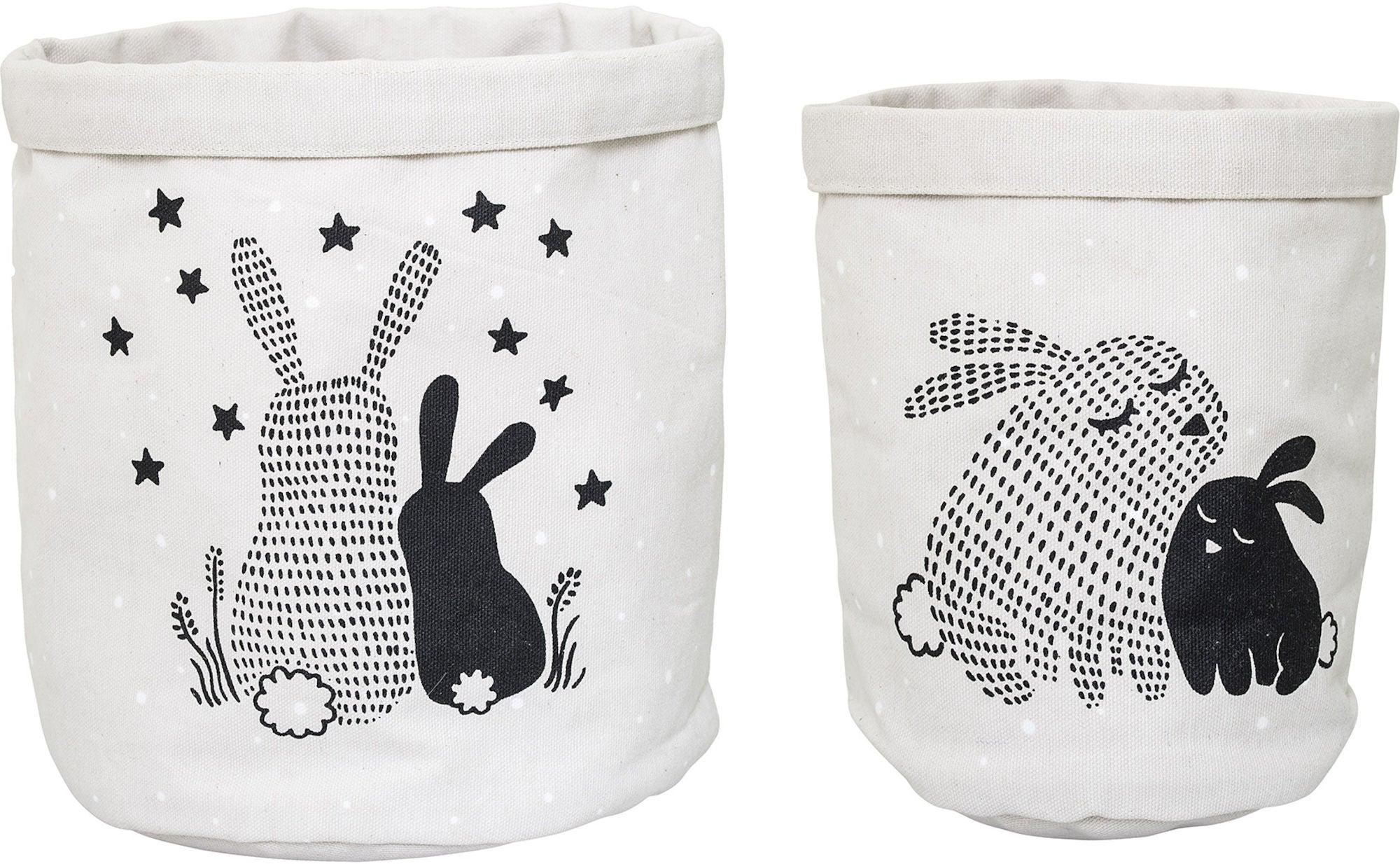 kaufen bloomingville aufbewahrungssack 2er pack kaninchen jollyroom. Black Bedroom Furniture Sets. Home Design Ideas