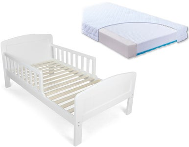 JLY Dream Kinderbett mit BabyMatex Carpathia Matratze 70x140, Weiß