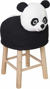 KidsDepot Hocker Panda, Black/White