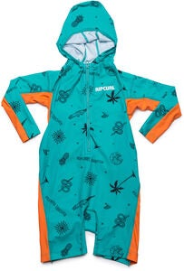 Rip Curl Kids Hooded UV-Anzug, Turquoise