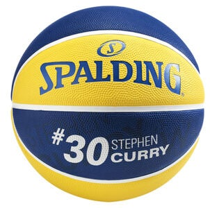 Spalding NBA Stephen Curry Basketball Größe 7, Gelb/Blau