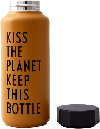 Design Letters Thermosflasche Special Edition, Mustard