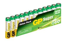 GP Batterien AAA LR03 Super 12er-Packung