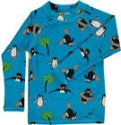 Småfolk Pinguin UV50+ Langarmshirt, Ocean Blue