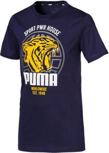 Puma Alpha Graphic T-Shirt, Peacoat