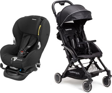 Maxi-Cosi Mobi XP, Night Black Reisepaket Beemoo Easy Fly Buggy, Black