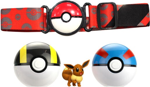 Pokémon Clip 'N Go Belt Set Hyperball, Superball und Evoli