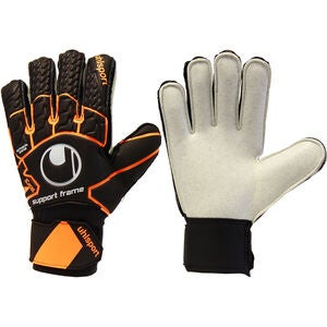 Uhlsport Soft Resist Torwarthandschuh, Schwarz/Orange