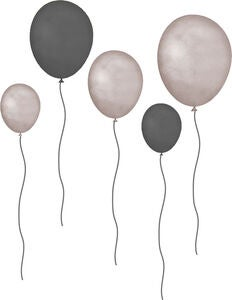 That's Mine Wallsticker Balloons 5er-Pack, Grau