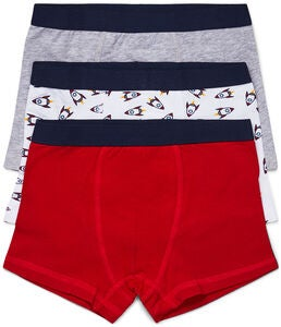 Luca & Lola Giacomo Boxer 3er-Pack, Red/Grey