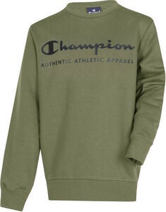 Champion Kids Crewneck Pullover, Winter Moss
