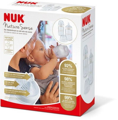 NUK Nature Sense Value Set 2er-Pack Babyflaschen 260 ml, Weiß