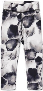 Hyperfied Tights, Black/Grey Watercolor