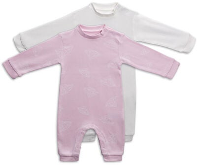 Tiny Treasure Maxime Overall 2er-Pack, Chalk Pink