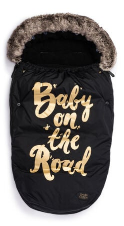 Petite Chérie Fußsack Baby On The Road, Black/Gold