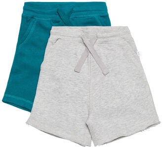 Luca & Lola Fabriano Shorts 2er-Pack, Grey Melange/Deep Lake