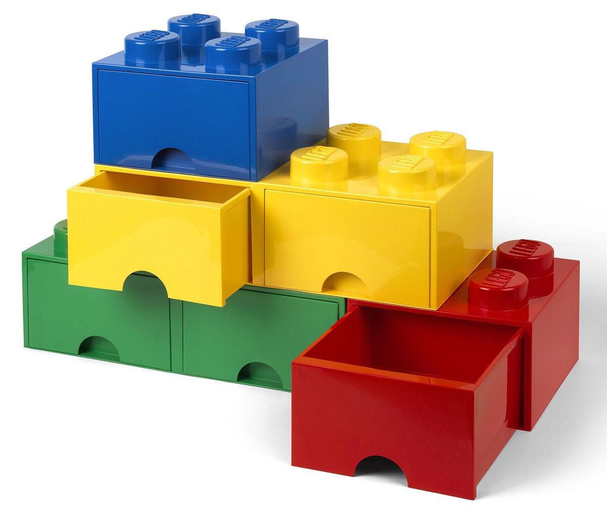 kaufen lego aufbewahrungsbox mit schublade 4 blau jollyroom. Black Bedroom Furniture Sets. Home Design Ideas