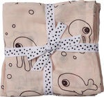 Done By Deer Swaddler Sea Friends 120x120 2er-Pack, Powder