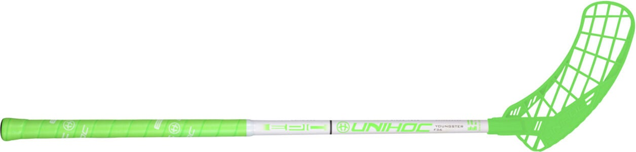 Unihoc EPIC Youngster 36 Unihockey-Stock Links, Neon Green/White